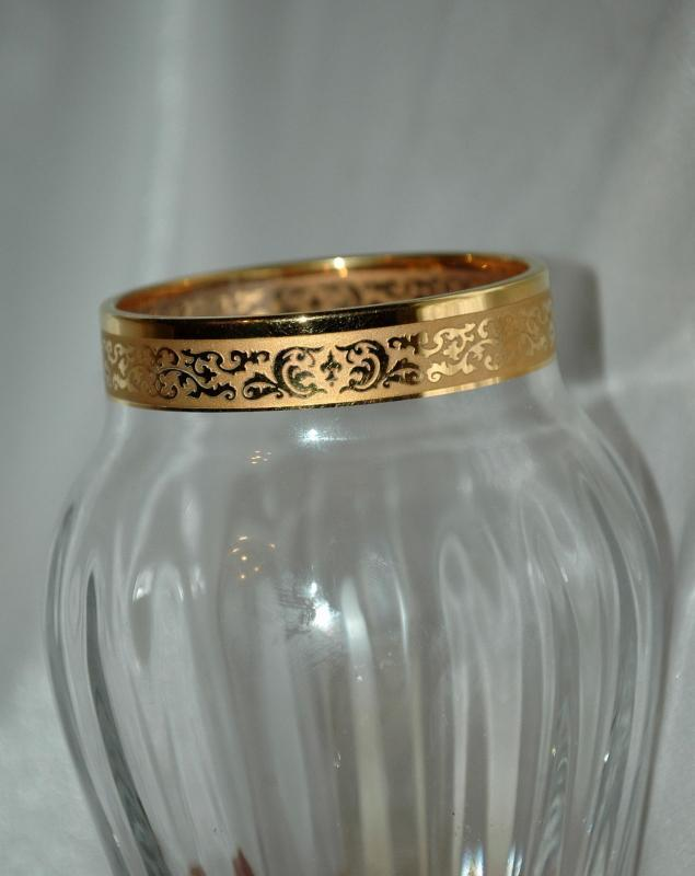 Crystal Vase with 24k  Gold Leaf Band, Autumn Collection by Lenox