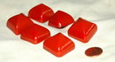 6 Large Cherry Red  Bakelite Buttons