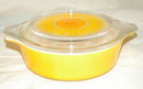 Pyrex  Sun Flower Baking Dish 1 Pint