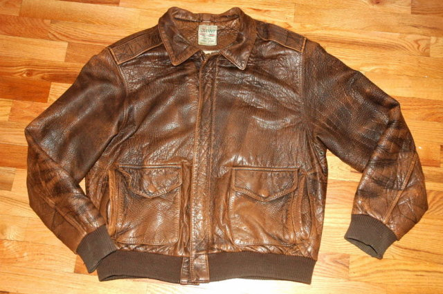 Brown Leather Flight Jacket or Bomber Jacket