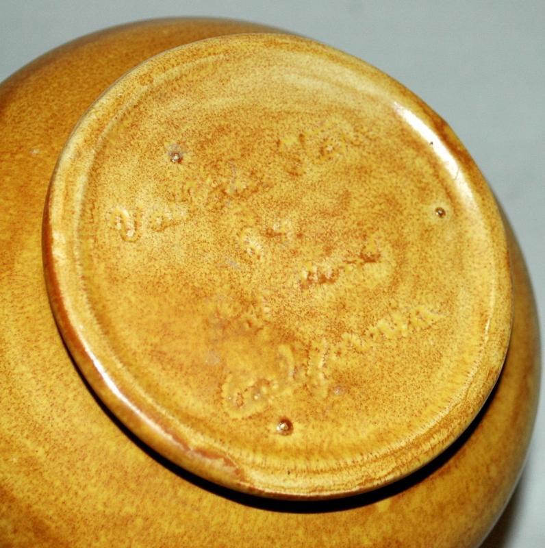RARE VINTAGE VALLONA STARR CALIFORNIA POTTERY  Butternut Squash GLAZED  EWER PITCHER VASE