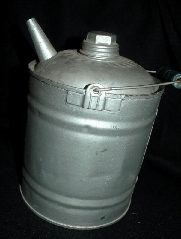 Antique Galvanised Tin Fuel Can