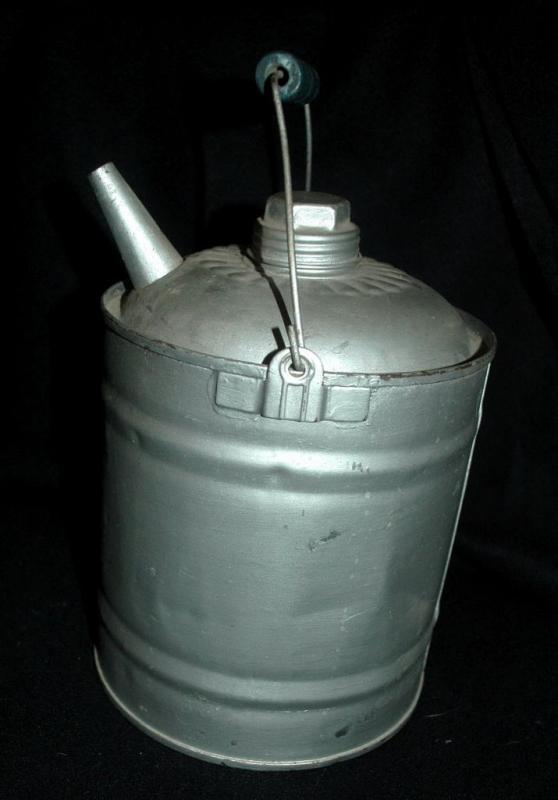 Antique Galvanised Tin Fuel Can