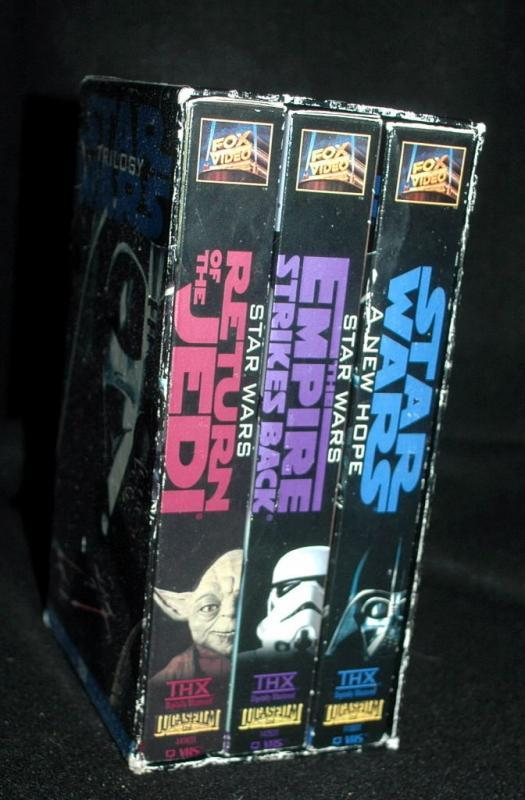 Star Wars Trilogy THX Sound Original Theatrical Version VHS Box Set 3 tapes 1995