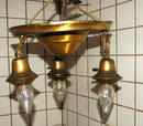 Victorian Brass Ceiling Light Fixture