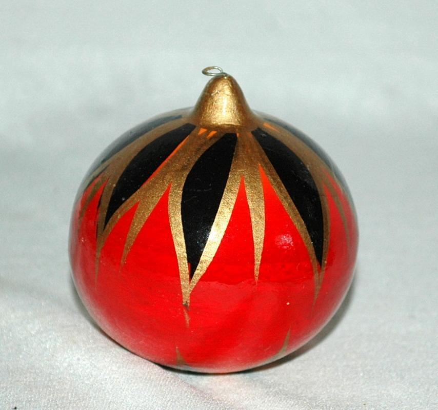 Hand Painted Ceramic Clay  Mexican Christmas ornament bulb.