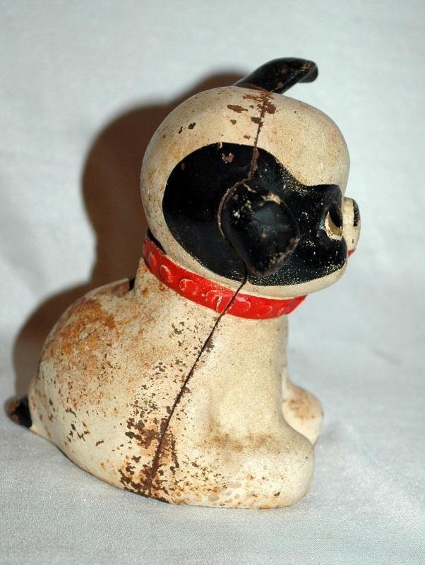 Hubley Cast Iron, Still Bank, Fido Dog, Mfg. c 1914