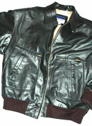 Boeing issue black leather flight jacket