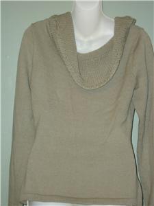 100% Baby Alpace Ecru Sweater hand knit from Peru