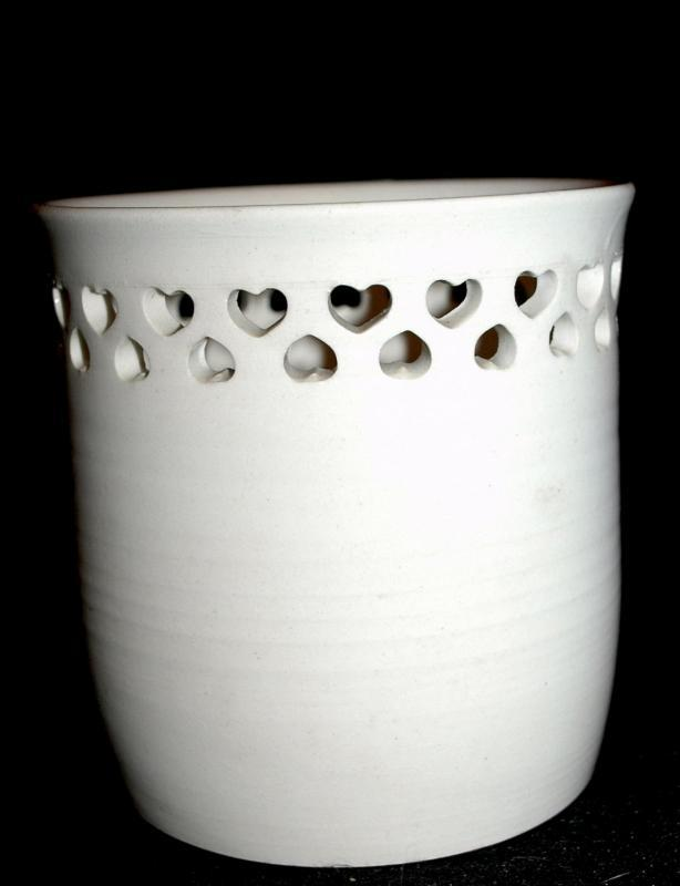 Pottery Bowl by Andy Phibbs,  Cut Work Hearts