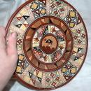 Hand-Painted and Hand-Fired Inca Peruvian Clay Plate,  from Cuzco