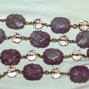 Joan Rivers Purple Amethyst Wire Wrapped Nugget Necklace