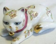 Franklin Mint Satsuma Cat Figurine