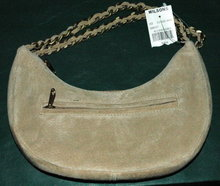 Suede Crescent Purse, Wilson Leather, NWT