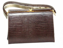 Crocodile Pattern Vintage Leather Purse