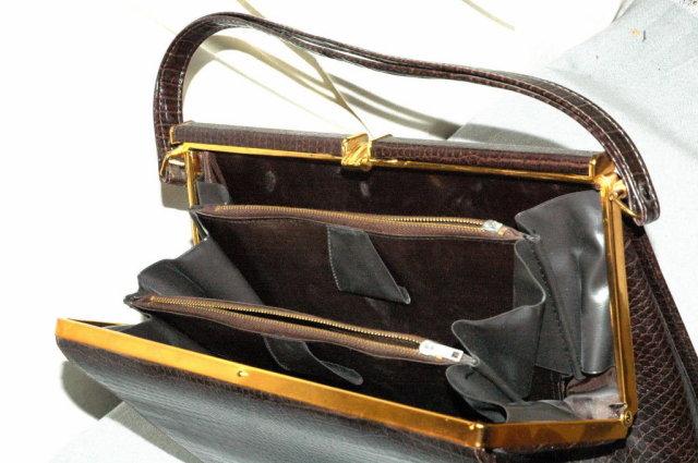 Crocodile Pattern Vintage Leather Purse