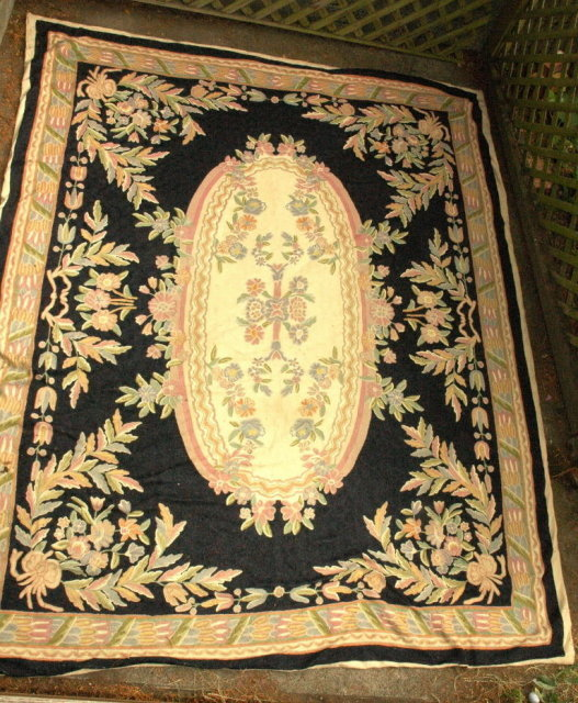 8' x 10' Hand  CHAIN STITCHED   Wool Carpet  ARABIC  **PRICE REDUCTION !**