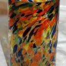Mexican Hand Blown Art Glass Confetti  Tumbler Glass