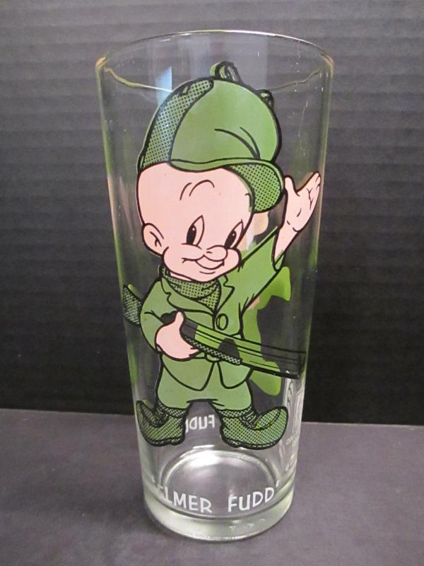 Elmer Fudd Looney Tunes Drinking Glass  Warner Bros 1973 Pepsi Collector Series