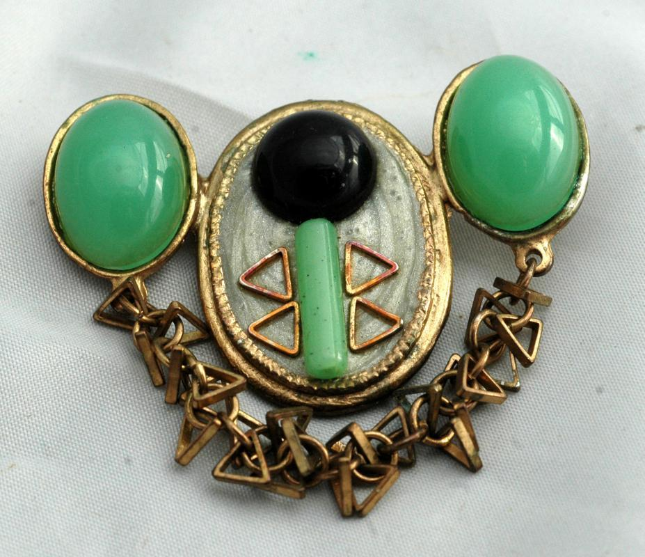 Atomic  Lucite Enamel Pin Brooch High Voltage Appearance - Unusual