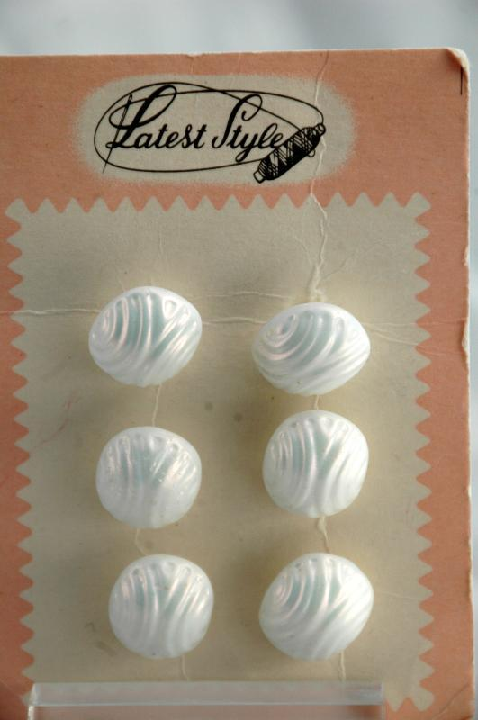 Antique Czech Glass Buttons on Card