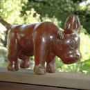 Hand Carved Wooden Bull Old Guatamalan  Folk Art  Very Large and Solid , Rustic