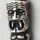 Sterling Silver Tiki God 3-D Pendant Charm  8.1 grams/  exquisite details