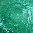Cliff Goodman Art Glass Large Textured Glass Vase /  Signed / Color of Wintergreen with cobalt blue