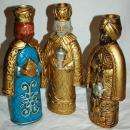 3 Wise Men Kings Papier , Paper Mache Candle Holders,Hand Crafted , Japan , Christmas Decor, Nativity
