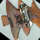 Hand Crafted Copper Enamel Christmas Tree Pin