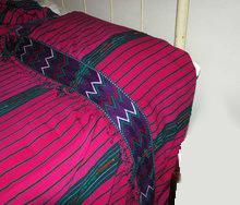 Guatemala Hand Loomed Textile Bedspread  104