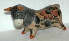 Mexican Burnish Pottery Bull