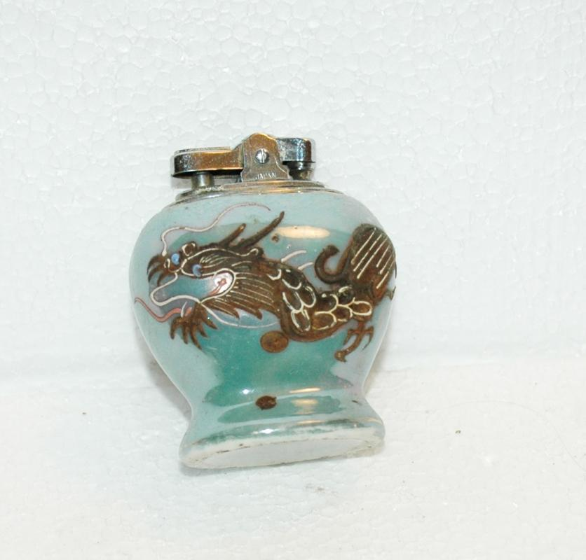 Dragonware Moriage Luster Porcelain Table Lighter  Asian