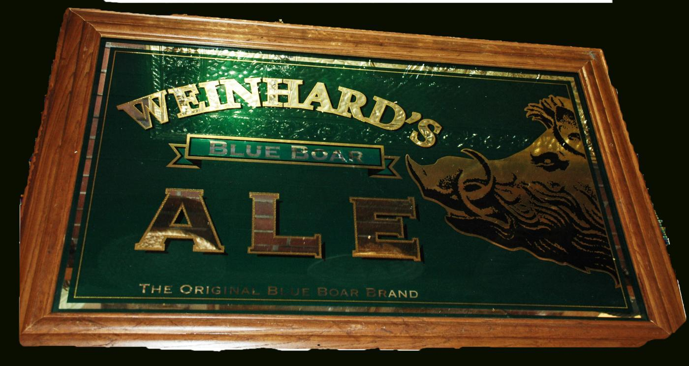 Weinhard 39 S Boar 39 S Head Blue Boar Ale Beer Mirrored Sign 32 X20