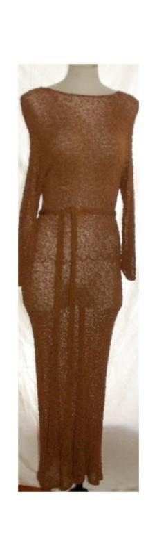 1940's Rayon Boucle Hand Knit Dress Gown * PRICED REDUCED! **