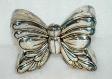Godinger Silver Plate Butterfly Salt Pepper Shakers / Silverplate