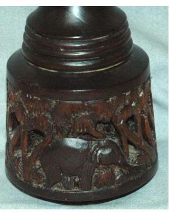 African Wood Bas-Relief Carved Vase   ** PRICE REDUCED ** PRICE REDUCTION !!