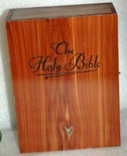 Cedar Wood Bible Box  , lovely wood grain figure with knots