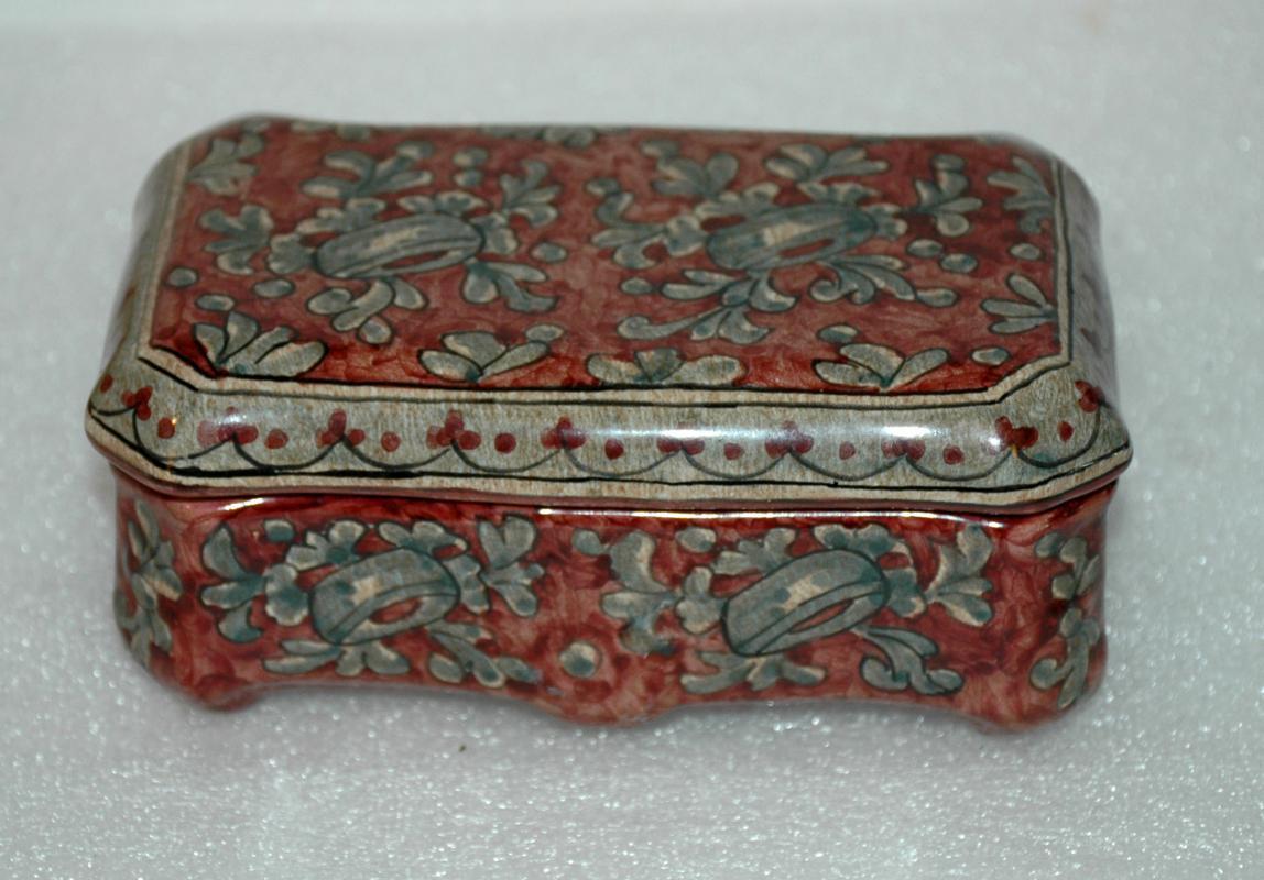 Biagioli Gubbio Ceramiche Itatly Ceramic Trinket Box