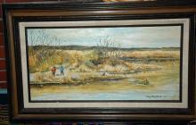 Original Oil Painting Steel Headers at Thomas Eddy by Mary Ellen Clark