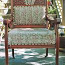 Antique Eastlake Oak & Tapestry Arm Chair