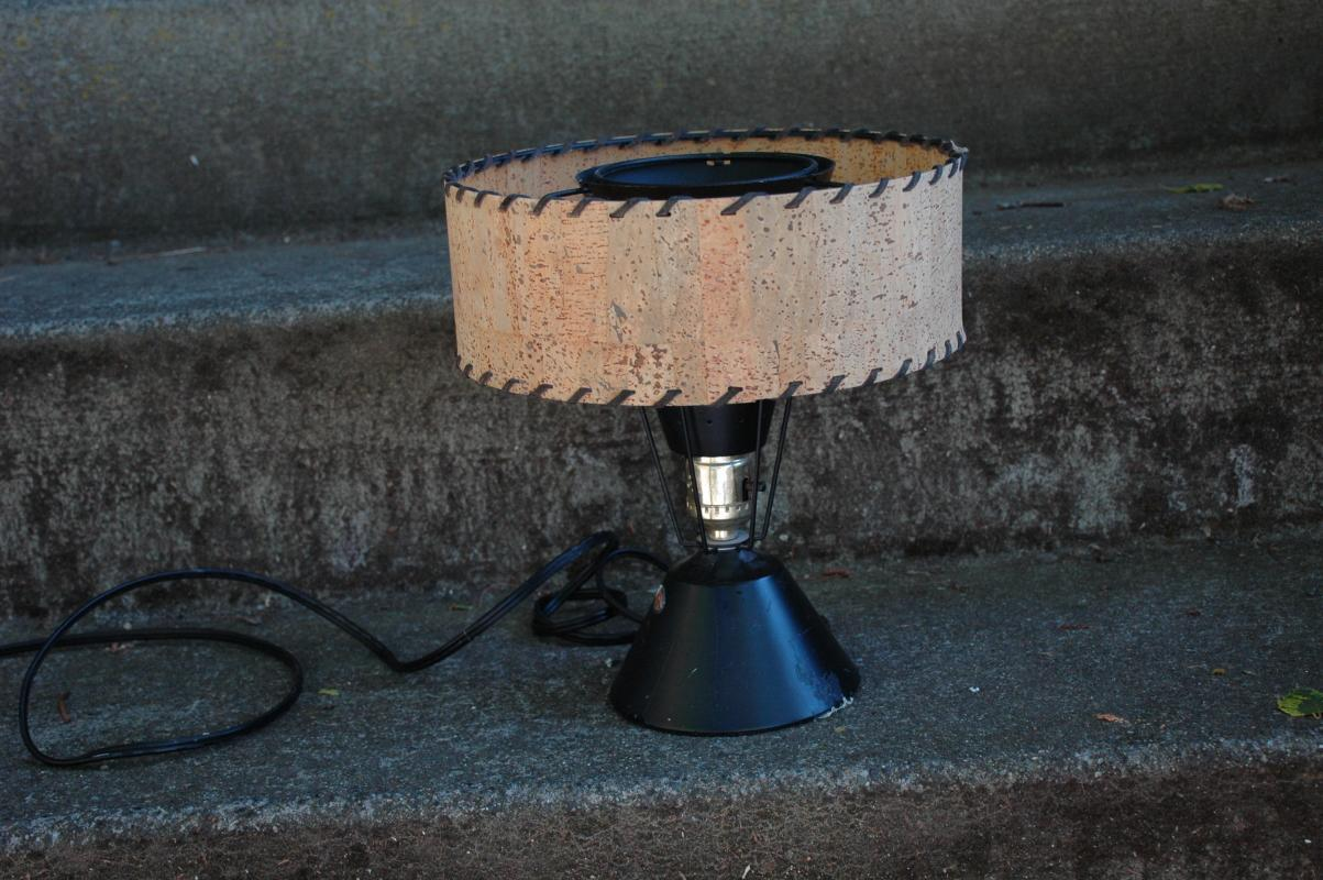 Atomic Era Cone Table Lamp with Shade