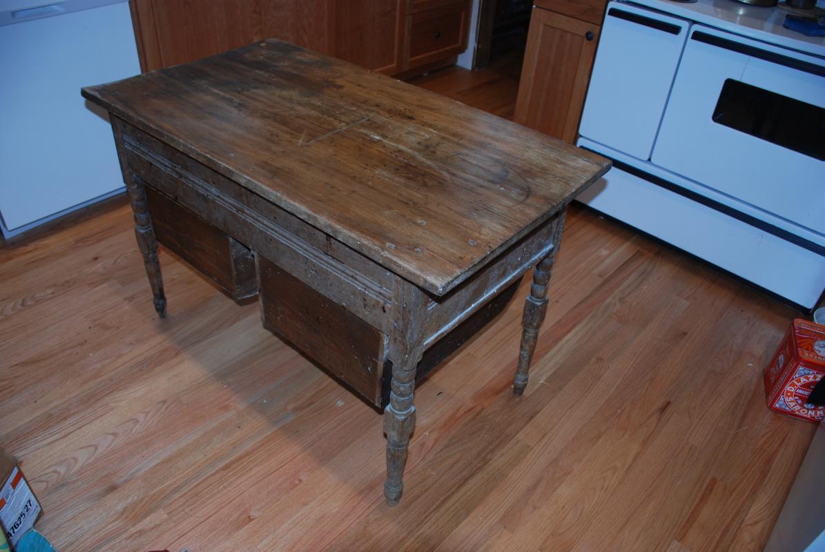 Possum Belly Bakers Table Doughboy Maple Top Quarter Sawn Oak Base
