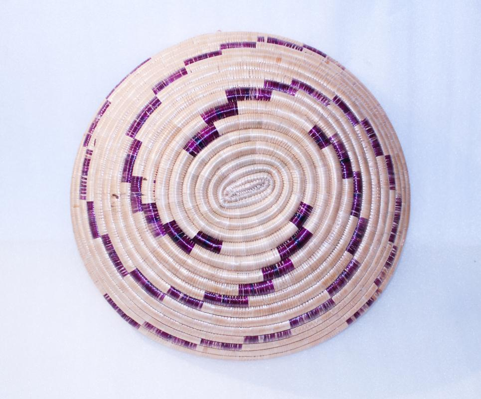 Hand Woven African Basket Bowl /  Tanzania,  Vintage