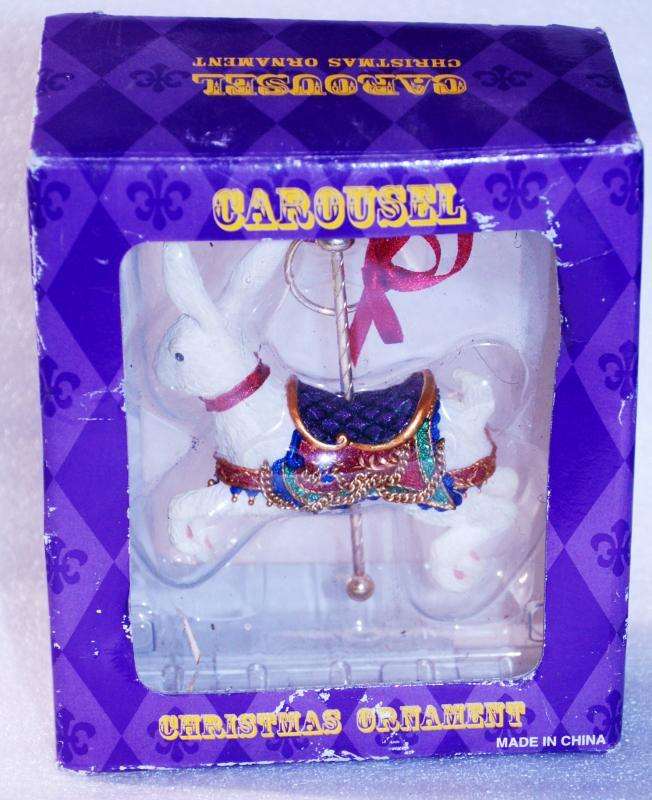 Costco Christmas Ornament Carousel Rabbit New In Box
