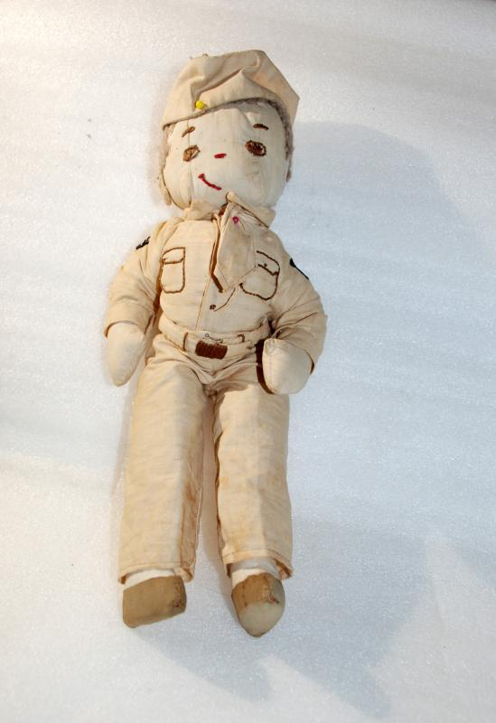 WWI Army Sergeant Rag Doll , Hand made