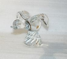 Flying  Bird or Duck on Pedestal  Crystal Glass Art Figure Sculpture Paperweight
