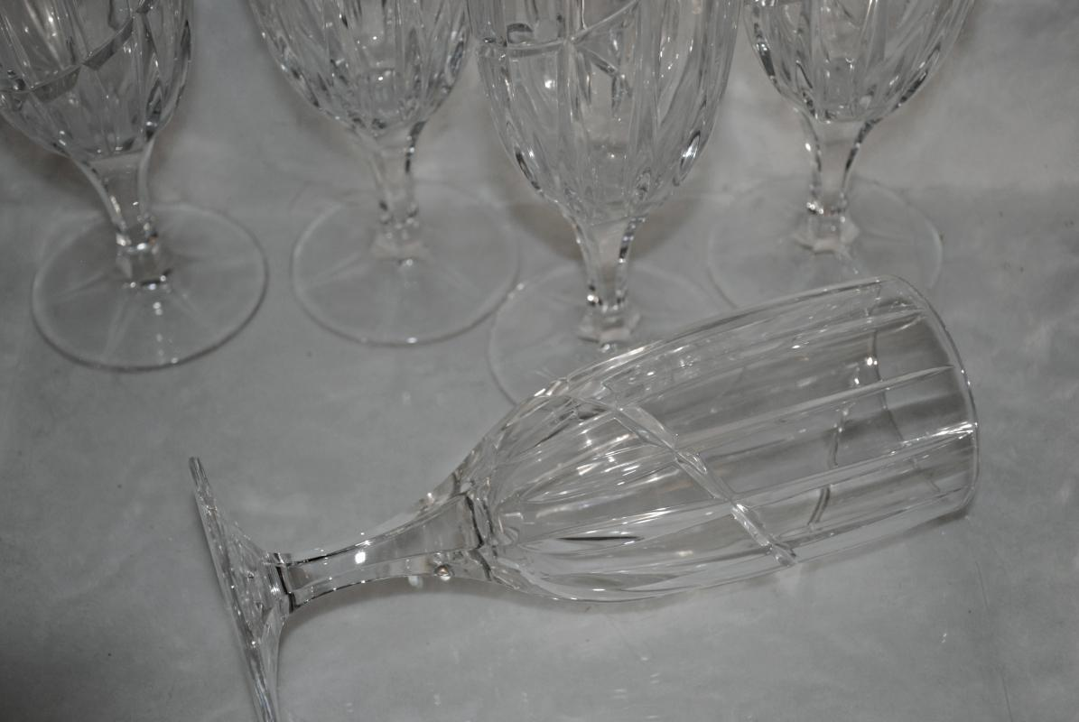 Crystal Stemware Ice Tea Goblet Uptown by Mikasa  x 5