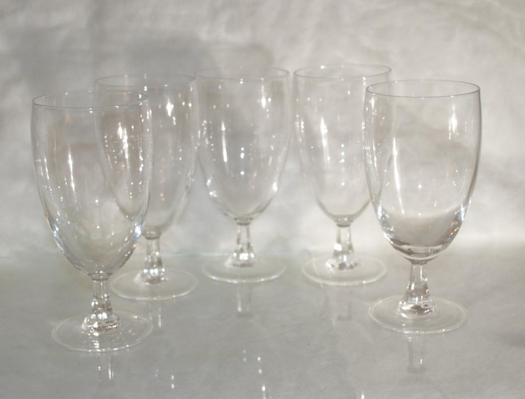 5 Footed Pilsner Beer Glasses with Paneled Stems