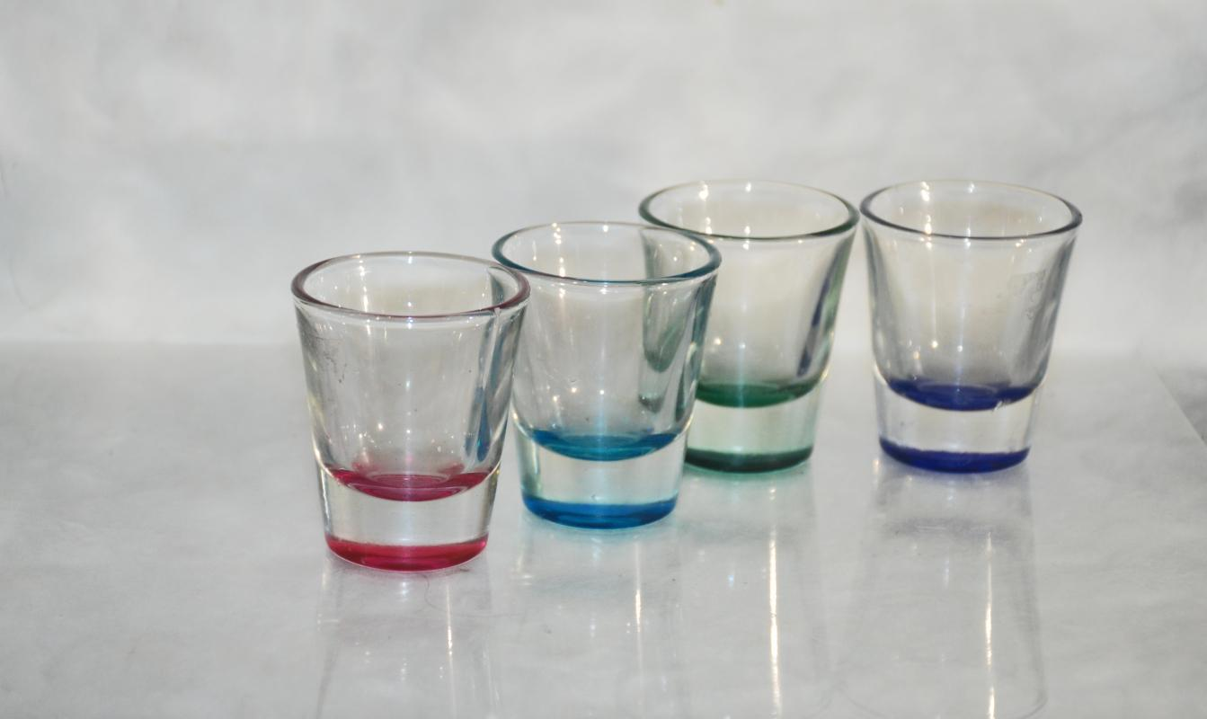 Anchor Hocking Assorted Colors Shot Glasses, Set of 4